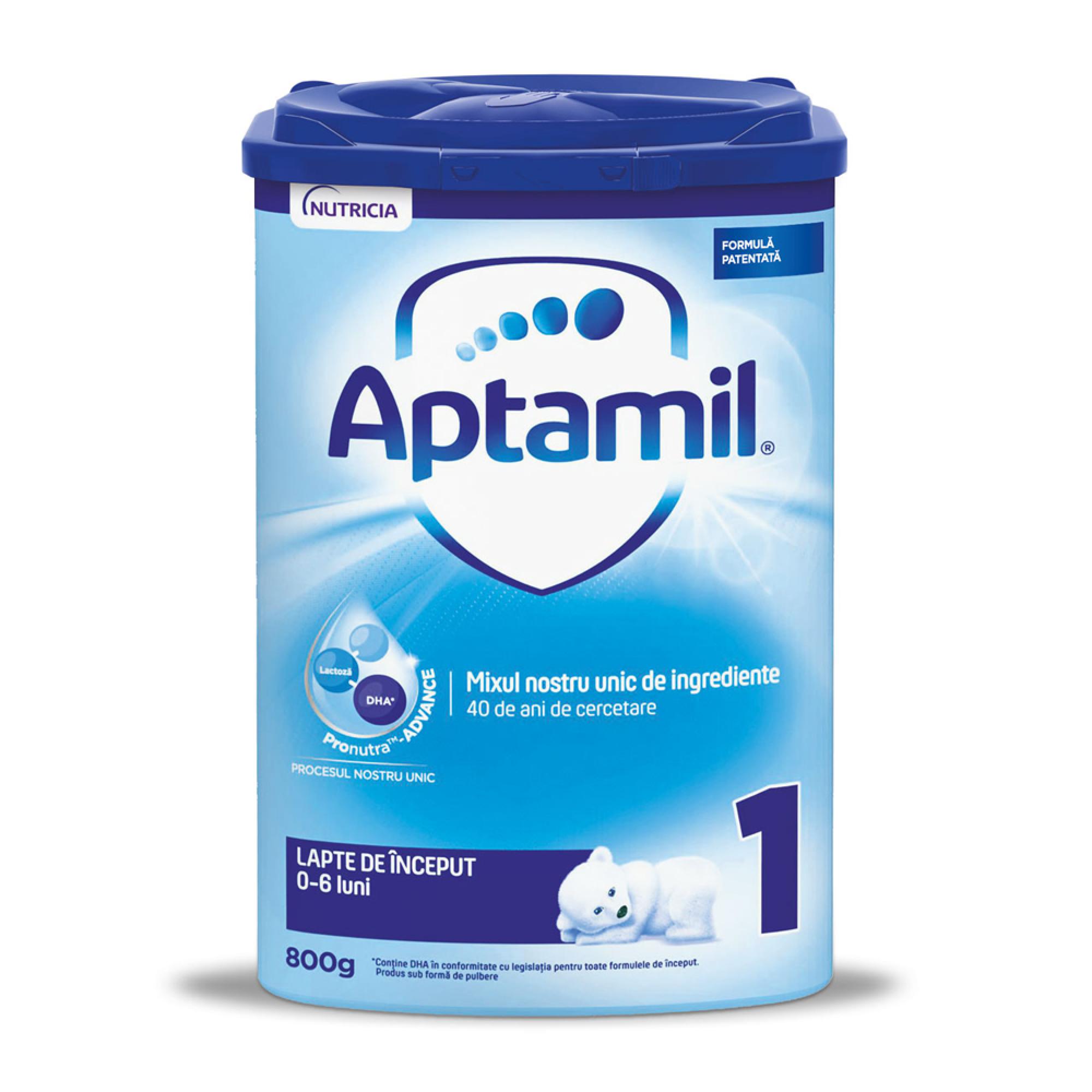 APTAMIL 1: Lapte praf de inceput, 800 gr, 0-6 luni