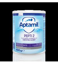 Lapte praf Nutricia pentru alergii si intolerante usoare, Aptamil Pepti 2, 400g, 6luni+