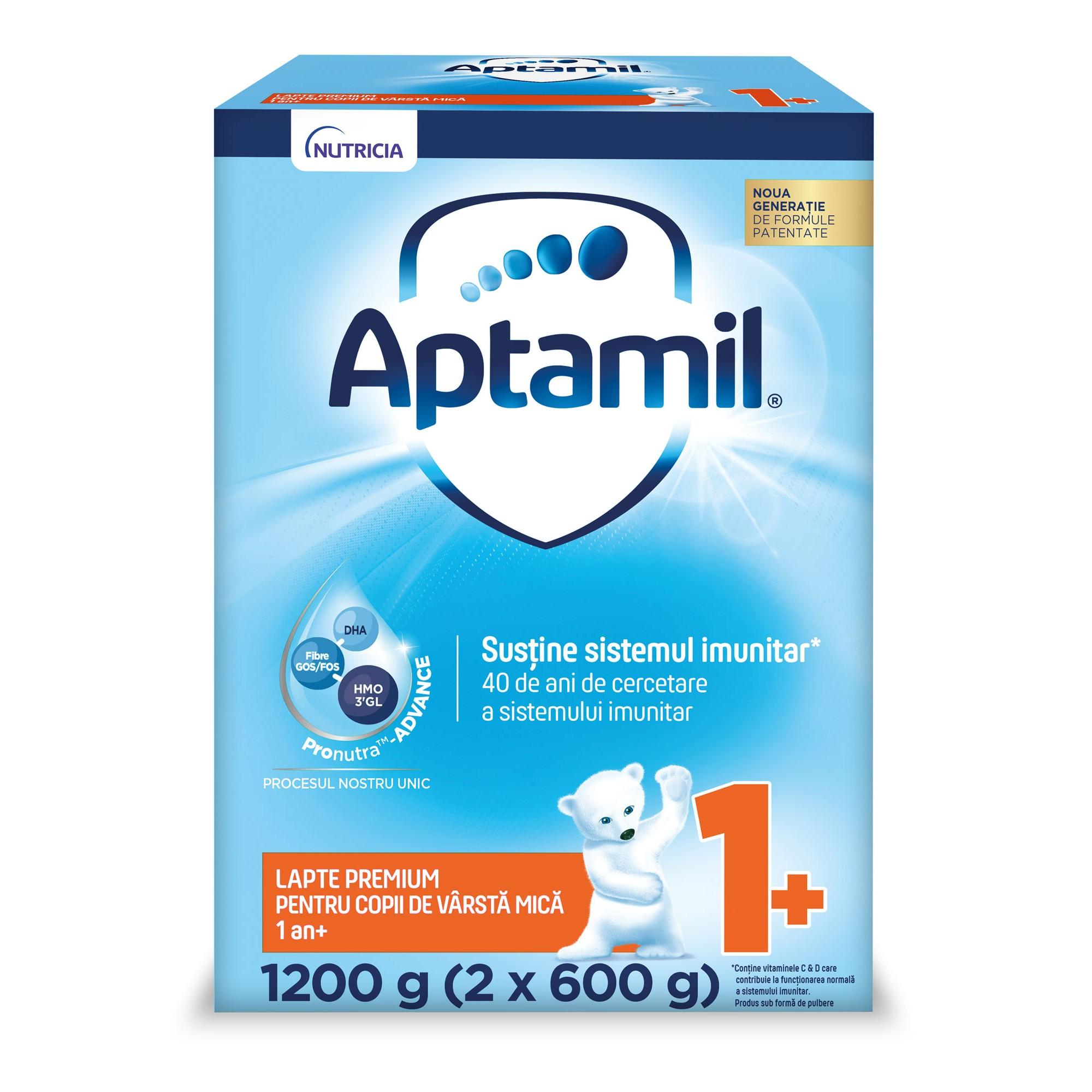 Lapte praf Nutricia Aptamil Junior 1+ , 1200g, 12luni+