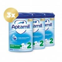 Trio Pack Aptamil 2, 800g, 6luni+