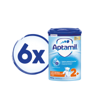 Pachet 6 x Lapte praf Aptamil pentru copii de varsta mica, 800 gr, 2 ani+