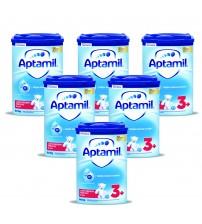 Pachet 6 x Lapte praf Aptamil 3+, 800 gr