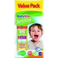 Scutece Babylino Sensitive Economy N6 15-30kg/40 buc