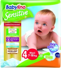 Scutece Babylino Sensitive N4 7-18kg/20 buc