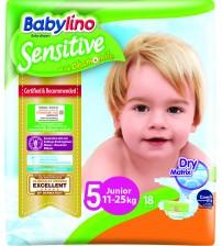 Scutece Babylino Sensitive N5 11-25kg/18 buc