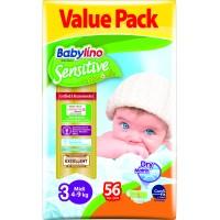Scutece Babylino Sensitive Economy  N3 4-9kg/56buc