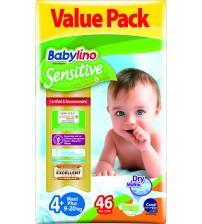 Scutece Babylino Sensitive Economy  N4+ 9-20kg/46 buc