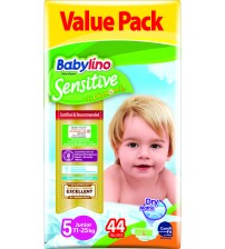 Scutece Babylino Sensitive Economy  N5 11-25kg/44 buc