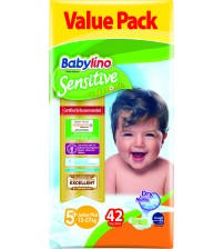 Scutece Babylino Sensitive Valuepack N5+, 13-27KG, 42 buc