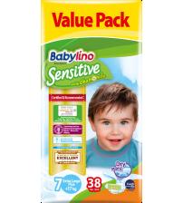 Scutece Babylino Sensitive Valuepack N7, 17+ KG, 38 buc