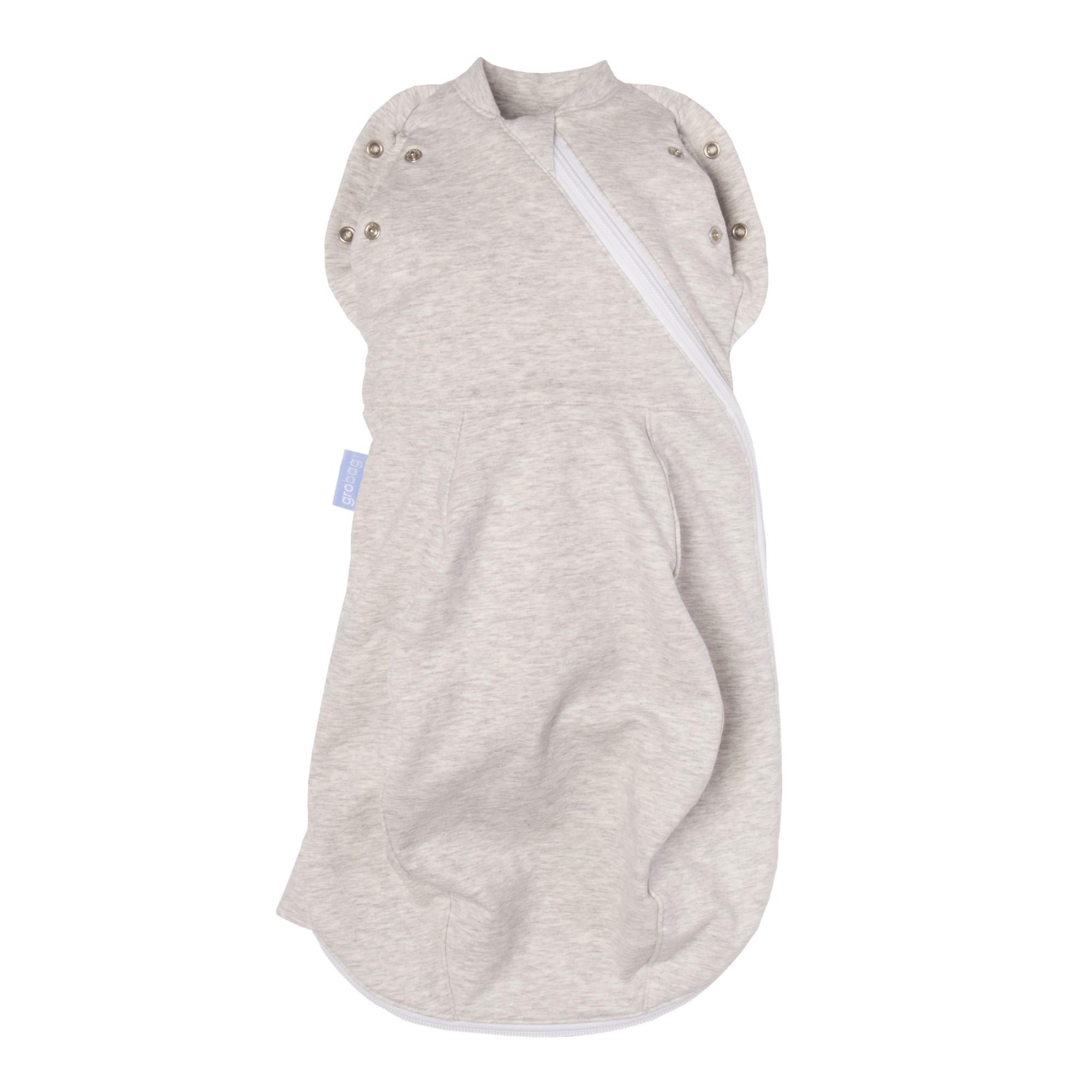 Sac de dormit cu sistem de infasat, Grey Marl, Gros, 0-3 luni, Gro