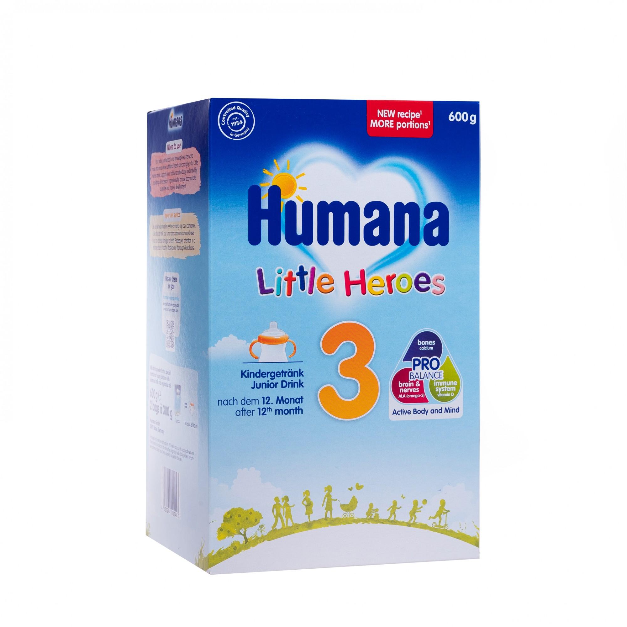 Lapte praf Humana 3, Junior Drink,  600 gr, 12 luni +