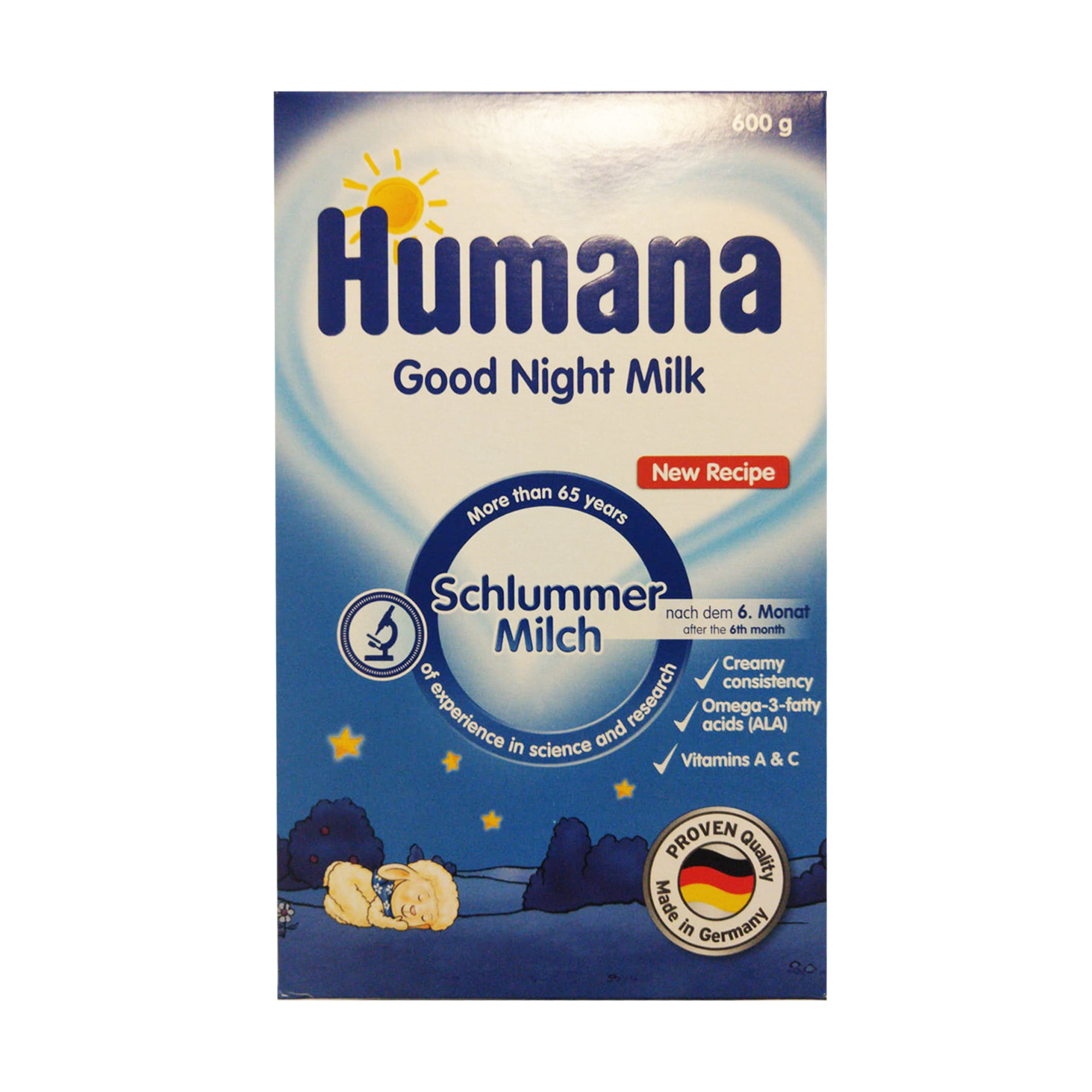 Formula de lapte de noapte, Humana, 600 g, 6 luni+
