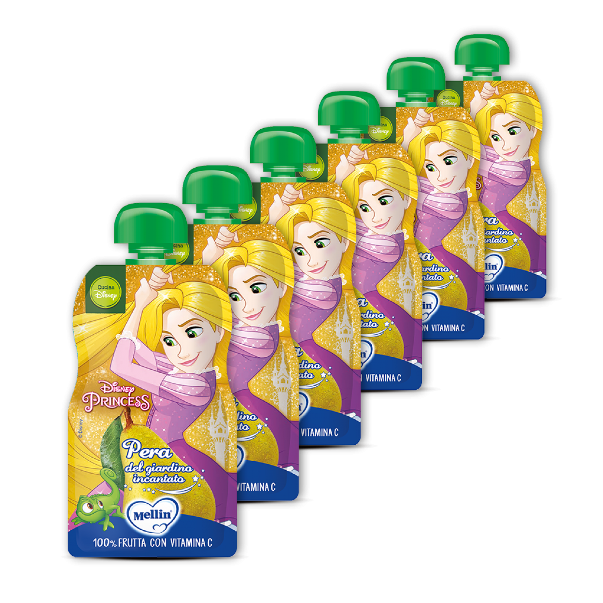 Pachet 6 x Mellin Piure de Pere Disney Princesses, 110g