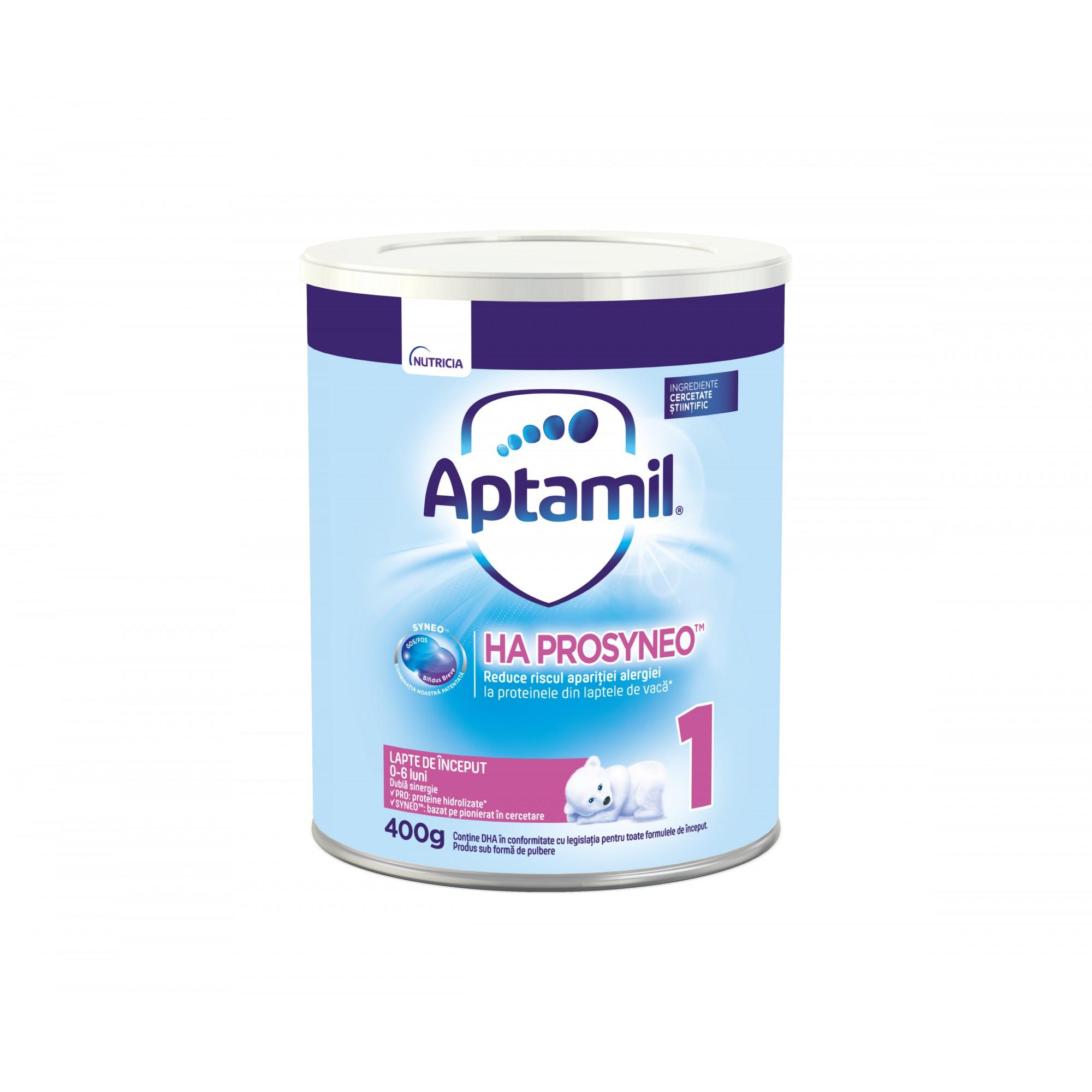 Lapte praf hipoalergenic Nutricia, Aptamil HA1 Prosynevo, 400G, 0-6 luni
