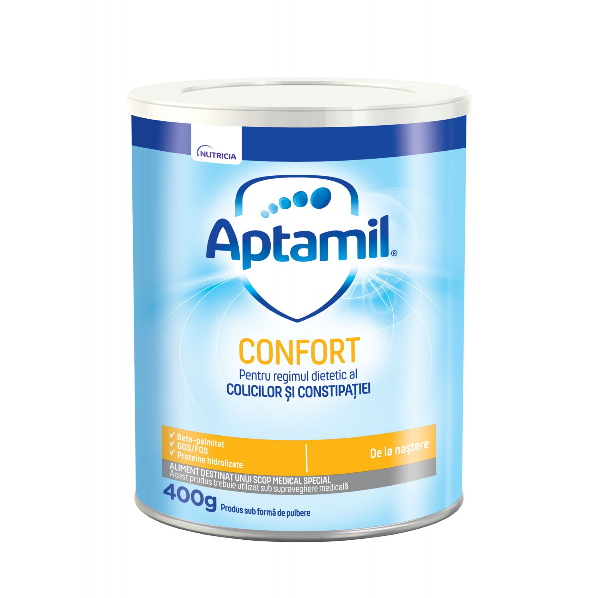 Lapte praf Nutricia, Aptamil Confort, 400g, 0luni+
