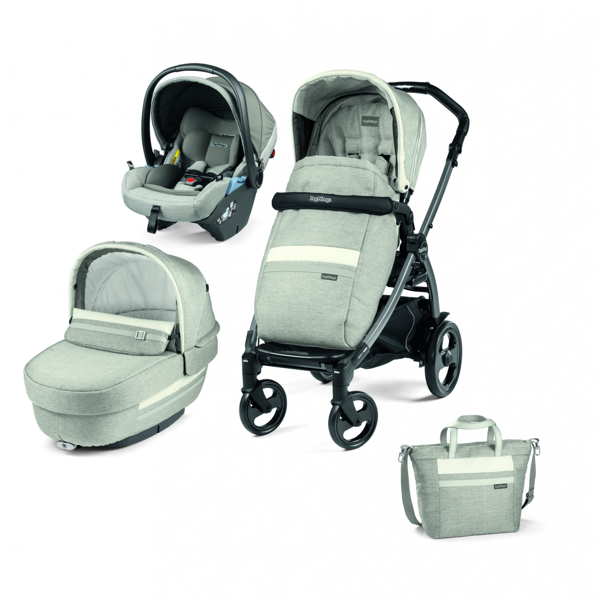 Carucior 3 in 1 Peg Perego, Book 51 Titania, Lounge, Luxe Pure