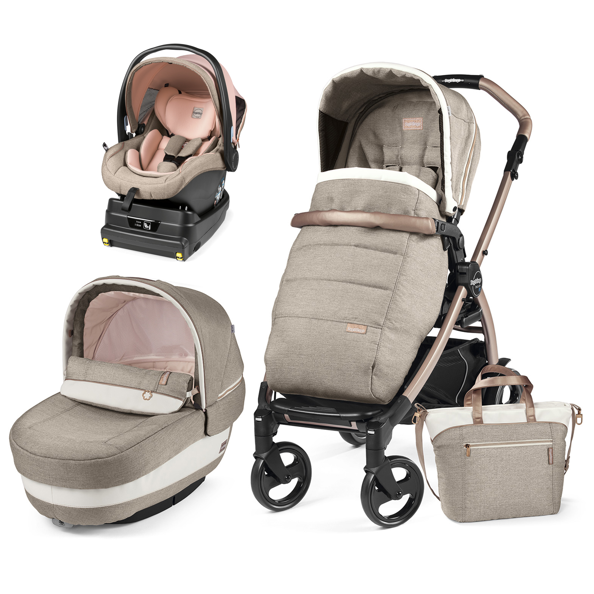 Carucior 3 in 1 Book 51 Mon Amour Elite i-Size, Peg Perego