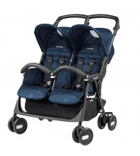 Carucior Peg Perego, Aria Shopper Twin, Geo Navy