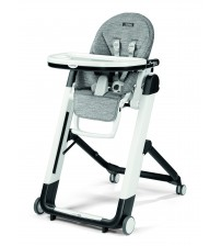 Scaun De Masa 2 in 1 Peg Perego, Siesta Follow Me, Wonder Grey, 0 - 15 Kg