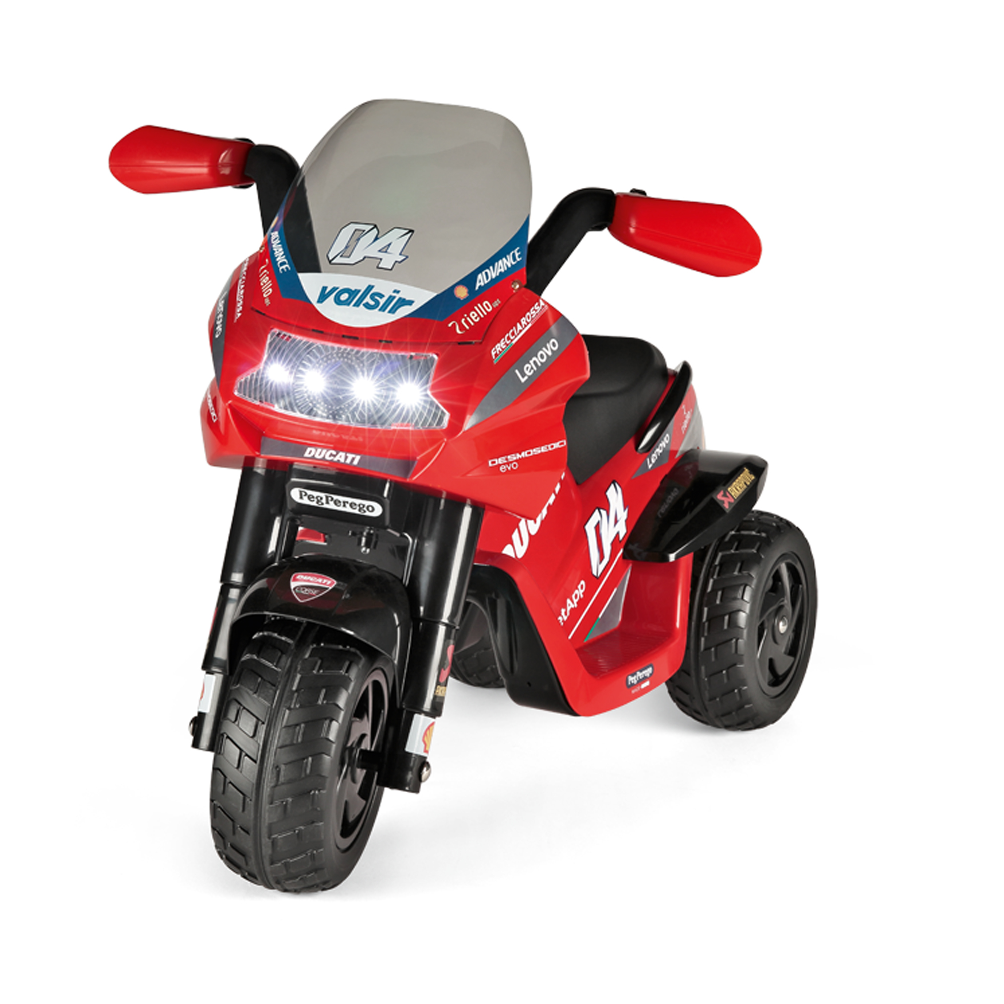 Motocicleta electrica Peg Perego Ducati Desmosedici Evo, 6V, 2 ani +, Negru / Rosu