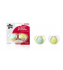 Suzeta Basics latex, Tommee Tippee, Cherry, 2 buc, 0-6 luni, Baieti