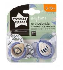 Set Suzete Ortodontice Anytime, Tommee Tippee, 6-18 Luni, 2 buc, Leut