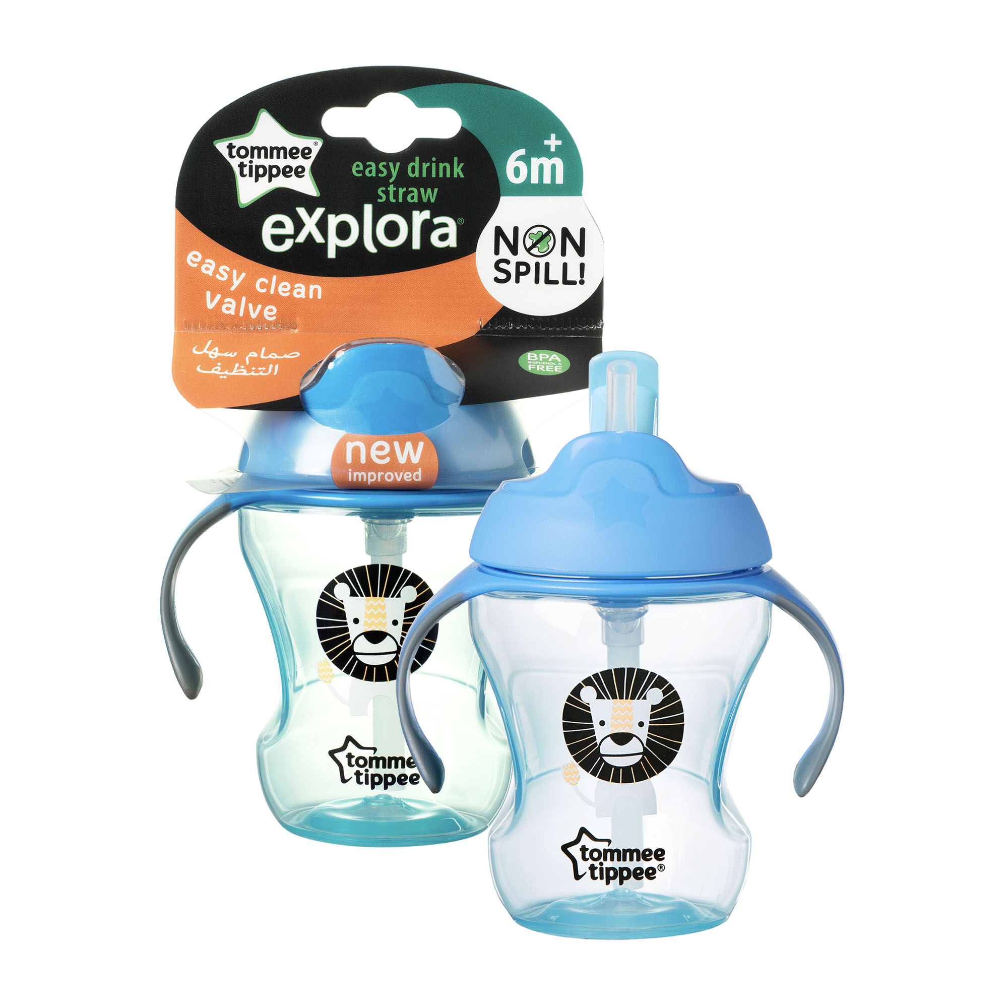 Cana Easy Drink cu pai Explora, Tommee Tippee, 230ml, Leut Albastru
