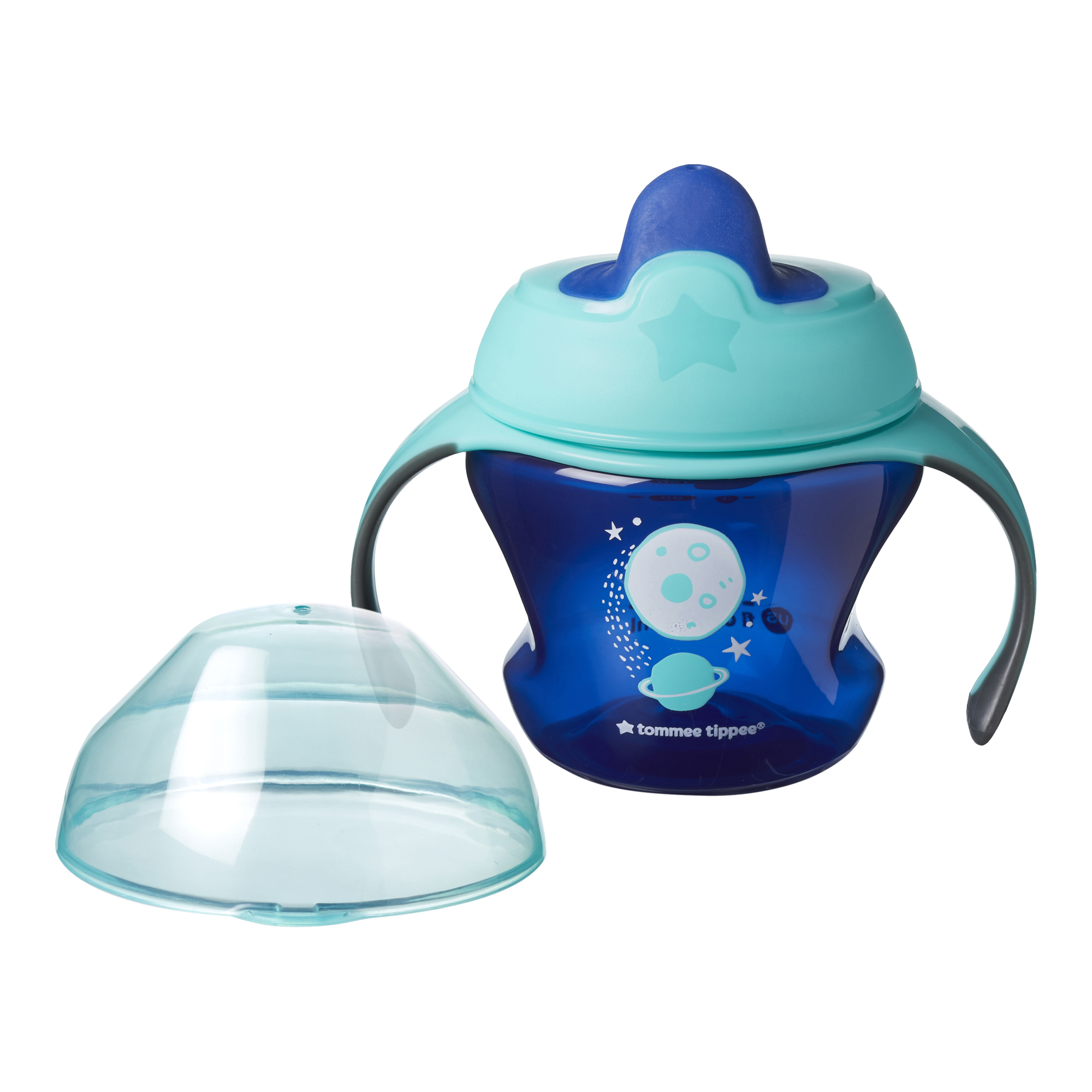 Cana First Trainer Explora, Tommee Tippee, 150 ml, Planeta Albastra