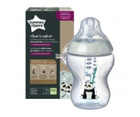 Biberon Tommee Tippee Closer to Nature, 260 ml, PP, Ursuleti Panda, 0 luni +, 1 buc