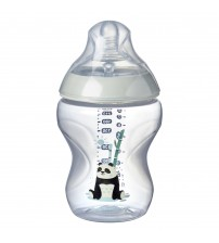 Biberon Tommee Tippee Closer to Nature, 260 ml, PP, Ursuleti Panda, 0 luni +, 1 buc