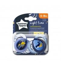 Suzeta ortodontica de noapte Tommee Tippee, 6-18 luni, Meduze/Balenute, 2 buc