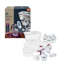 Set de pornire pentru alaptare Tommee Tippee Made for Me: pompa de san manuala si accesorii, 0 luni +