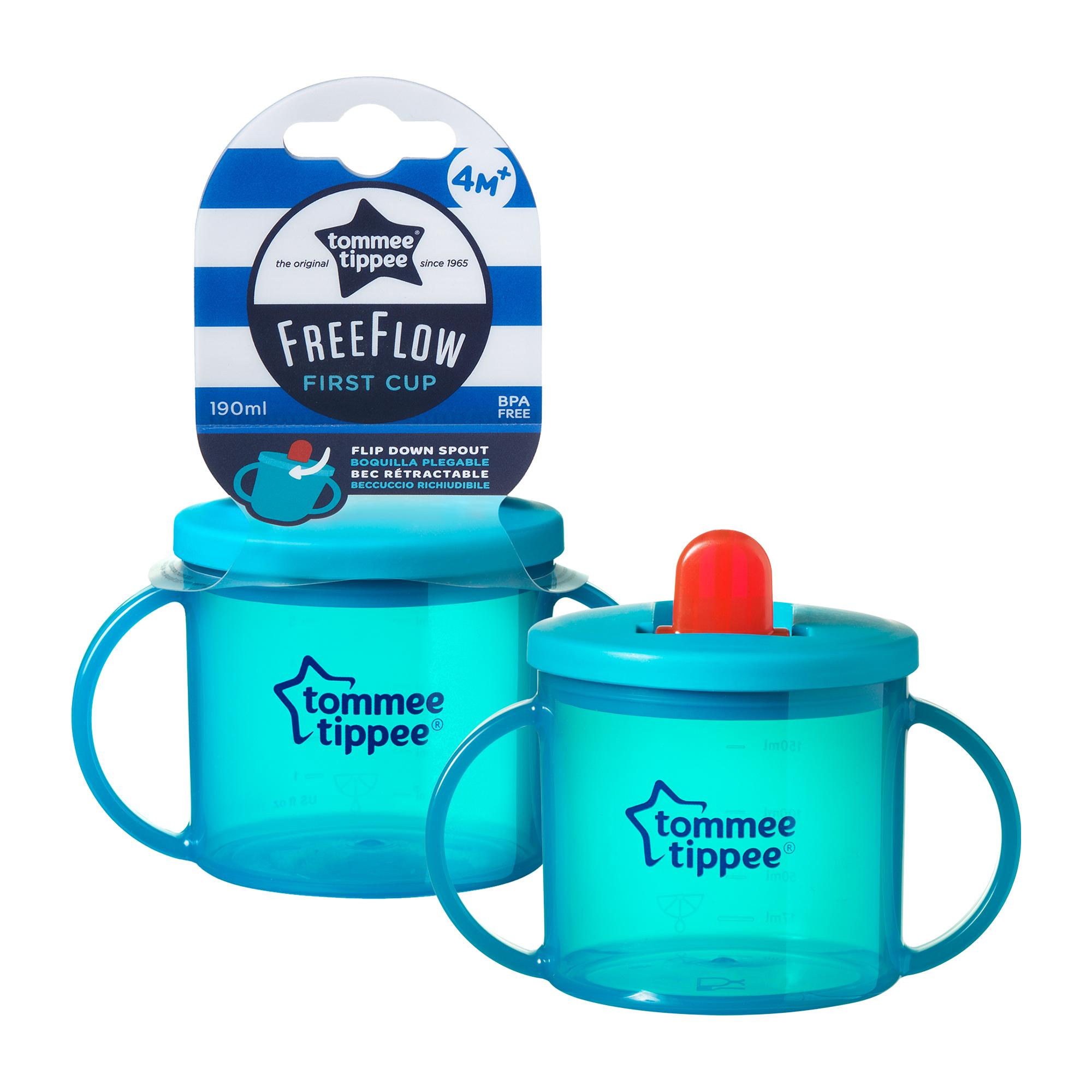Basics Cana First Cup, Tommee Tippee, gradata, 190ml, Albastru
