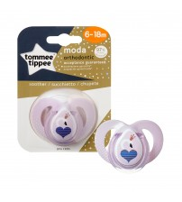 Suzeta Ortodontica Moda, Tommee Tippee, Roz, 6-18 luni, Lebada