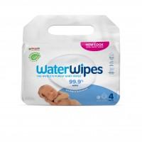 Servetele umede Biodegradabile Water Wipes, 4 pachete x 60 buc, 240 buc