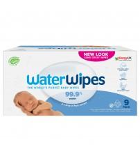 Servetele umede pentru bebelusi Biodegradabile Water Wipes, 9 x 60 buc, 0 luni+