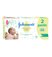 Servetele umede Johnson's Baby Cotton Touch, 2x56 buc
