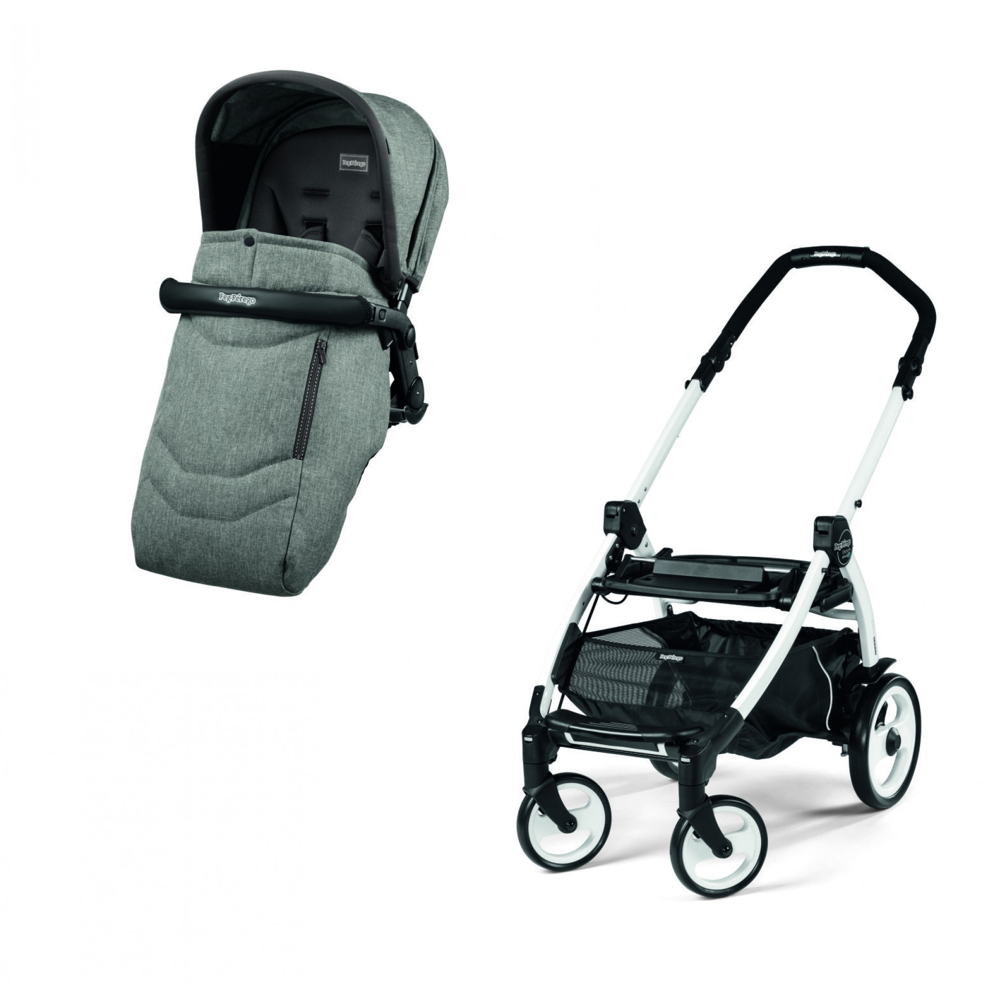 Carucior Peg Perego 3 in 1 Book Plus 51 S Alb Atmosphere - produs resigilat