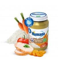 Piure ECO de legume, orez si curcan, Humana, 190g, 6luni+