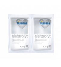 Saruri de hidratare, Humana Elektrolyt cu fenicul, folie cu 2 plicuri, 12 luni+, 12.5 g