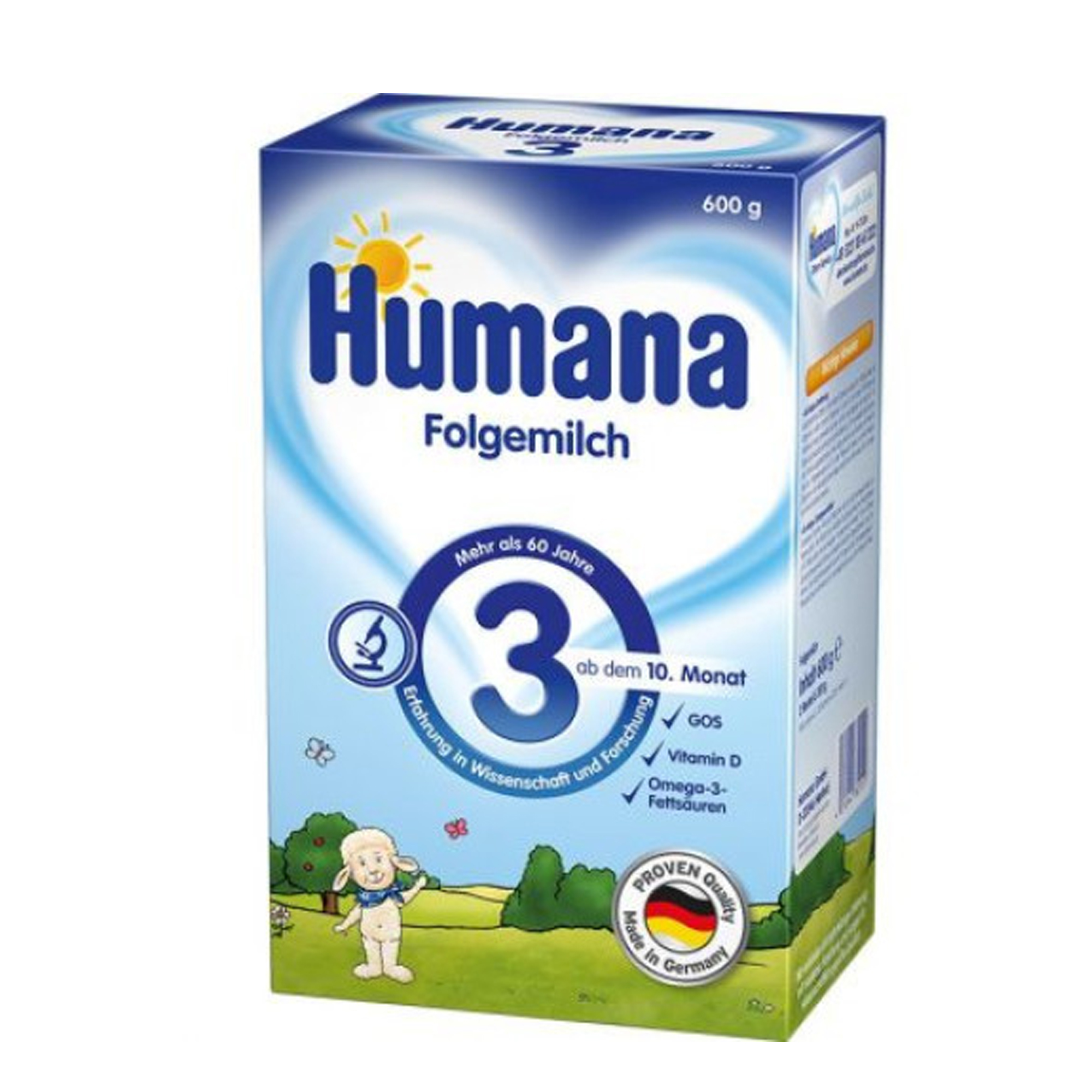 Lapte de continuare, Humana 3 GOS, 600 g, 10 luni+