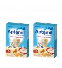 Pachet 2 x Cereale cu lapte si 5 fructe Aptamil, Nutricia, 225g, 8luni+