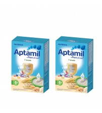 Pachet 2 x Cereale fara lapte Nutricia, Aptamil 7 Cereale, 250g, 6luni+