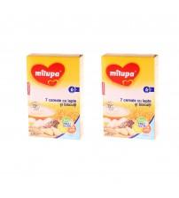 Pachet 2 x Milupa 7 Cereale cu lapte si biscuiti, 250g, 6luni+