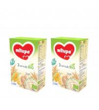 Pachet 2 x Cereale BIO fara lapte Milupa, 3 Cereale, 250g, 6luni+