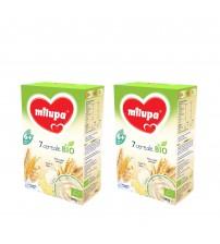Pachet 2 x Cereale BIO fara lapte Milupa, 7 Cereale, 250g, 6luni+