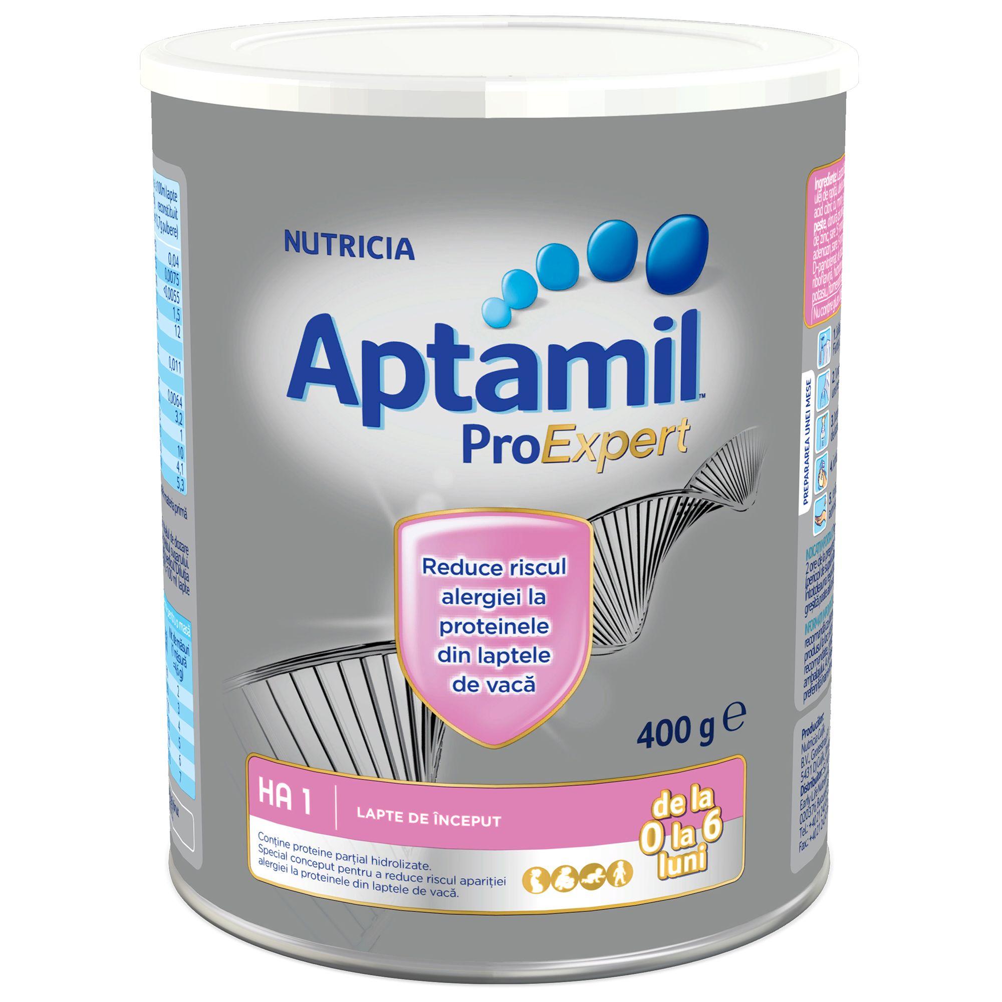 Lapte praf hipoalergenic Nutricia, Aptamil HA1, 400G, 0-6 luni