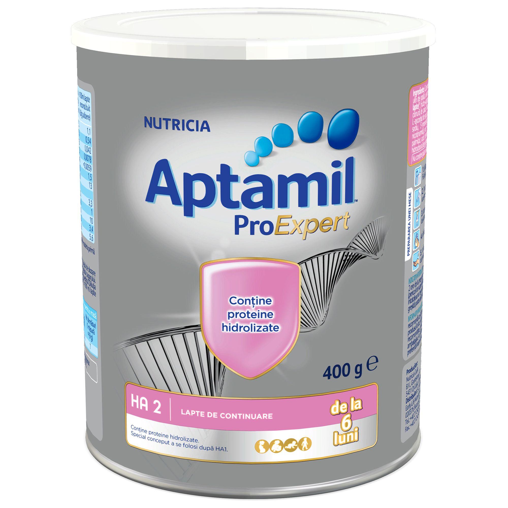 Lapte praf hipoalergenic Nutricia, Aptamil HA2, 400G, 6 luni+