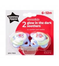 Suzeta Basics latex, de noapte, Tommee Tippee, 2 buc, 6-12 luni
